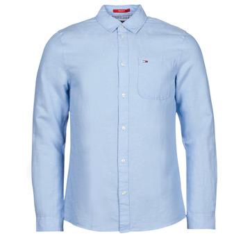 Vêtements Homme Chemises manches longues Tommy Jeans TJM LINEN BLEND SHIRT
