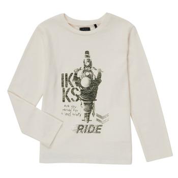 Vêtements Garçon T-shirts manches longues Ikks CERISE