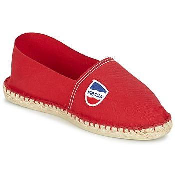 Schuhe Herren Leinen-Pantoletten mit gefloch 1789 Cala UNIE ROUGE Rot
