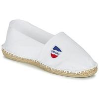 Schuhe Leinen-Pantoletten mit gefloch 1789 Cala UNIE BLANC Weiss
