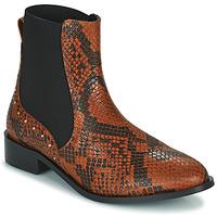 Chaussures Femme Boots JB Martin ANGE VTE PYTHON MARRON DCV / ELASTOMERE