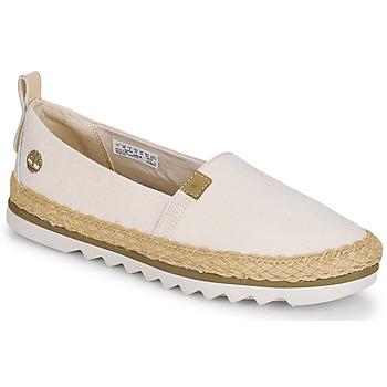 Schuhe Damen Leinen-Pantoletten mit gefloch Timberland Barcelona Bay EK+ Classic Textile Beige