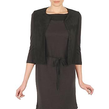 Abbigliamento Donna Gilet / Cardigan Majestic BERENICE Nero