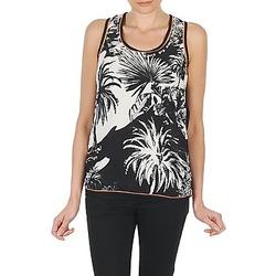 Abbigliamento Donna Top / T-shirt senza maniche Derhy EDEN Nero / Bianco