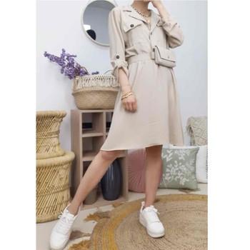 Vêtements Femme Robes courtes Fashion brands CD2293-BEIGE