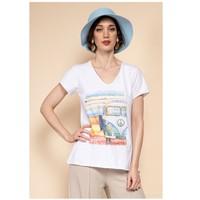 Vêtements Femme Tops / Blouses Fashion brands 8301-COMBI-SKY-BLUE