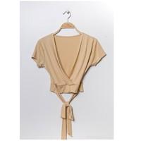 Vêtements Femme Tops / Blouses Fashion brands FR029T-BEIGE