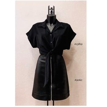 Vêtements Femme Tops / Blouses Fashion brands ERMD-13819-N-BLACK