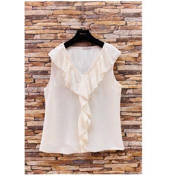 Vêtements Femme Tops / Blouses Fashion brands ERMD-13797-CP-BLANC
