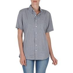 Abbigliamento Donna Camicie maniche corte American Apparel RSACP401S Bianco / Blu