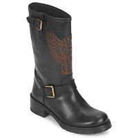 Schuhe Damen Boots Pastelle ANGEL Schwarz