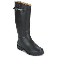 Chaussures Femme Bottes de pluie Aigle AIGLENTINE FUR Noir