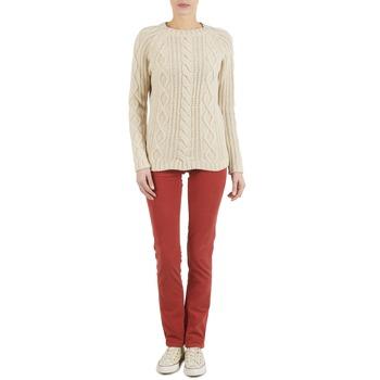 Abbigliamento Donna Pantaloni 5 tasche Kulte PANTALON PLANCHER 101819 ROUGE Rouille