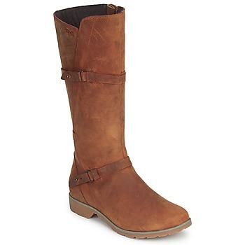 Schuhe Damen Klassische Stiefel Teva DELAVINA LEATHER Braun