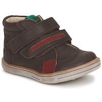 Schuhe Jungen Boots Kickers TAXI Braun, / Rot