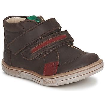 Chaussures Garçon Boots Kickers TAXI Marron / Rouge