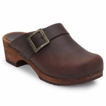 Chaussures Femme Sabots Sanita URBAN OPEN Marron