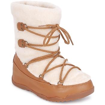 Schuhe Damen Schneestiefel FitFlop SUPERBLZZ Beige / Braun