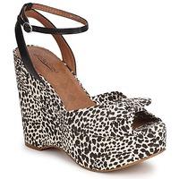 Chaussures Femme Sandales et Nu-pieds Lucky Brand VIERA BLACK/WHITE