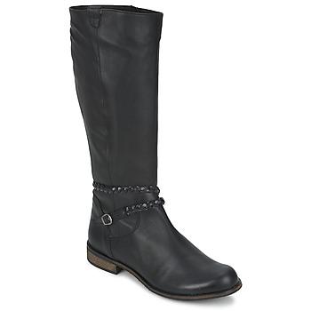 Chaussures Femme Bottes ville So Size BERTOU Noir