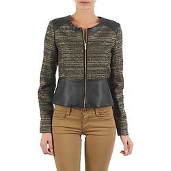 Kleidung Damen Jacken / Blazers Manoukian QUEELT Schwarz / Goldfarben