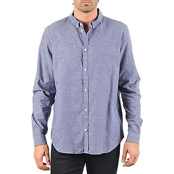 Vêtements Homme Chemises manches longues Cheap Monday DAMON BD SHIRT Bleu