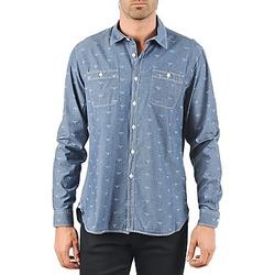 Kleidung Herren Langärmelige Hemden Barbour LAWSON Blau