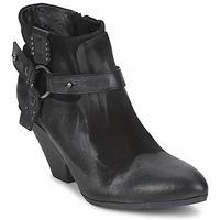 Schuhe Damen Ankle Boots Strategia SANGLA Schwarz / Silbern