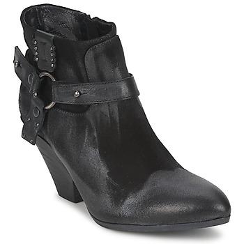 Chaussures Femme Low boots Strategia SANGLA Noir / Argent