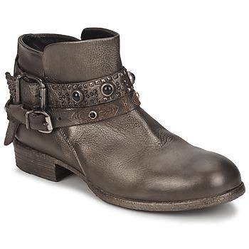 Schuhe Damen Boots Strategia YIHAA Silbern