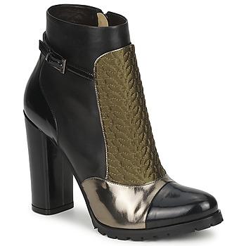 Schuhe Damen Low Boots Etro FEDRA Schwarz / Kaki / Silbern