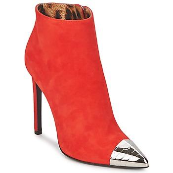 Schuhe Damen Low Boots Roberto Cavalli WDS213 Rot