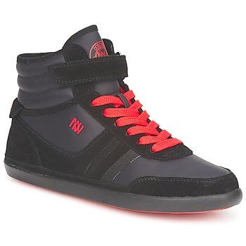 Scarpe Donna Sneakers alte Dorotennis MONTANTE STREET LACETS + VELCRO Nero