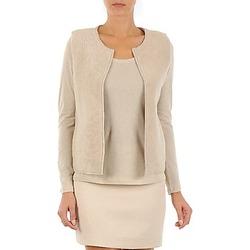 Abbigliamento Donna Gilet / Cardigan Majestic 241 Beige