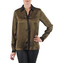Abbigliamento Donna Camicie La City O CHEM PATTE Kaki / Nero