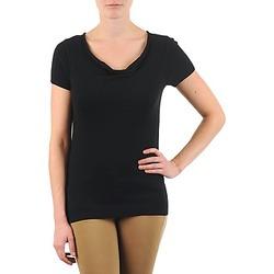 Kleidung Damen T-Shirts La City PULL COL BEB Schwarz