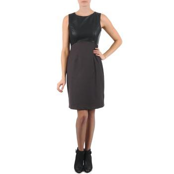 Kleidung Damen Kurze Kleider La City RTANIA Schwarz / Grau