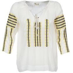 Kleidung Damen Tops / Blusen Stella Forest ATU025 Weiß / Grau / Gelb