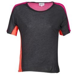 Abbigliamento Donna T-shirt maniche corte American Retro CAROLE Nero / Rosa