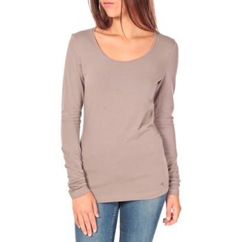 Vêtements Femme T-shirts manches longues Tom Tailor Lara Stretch Longsleeve Taupe Marron