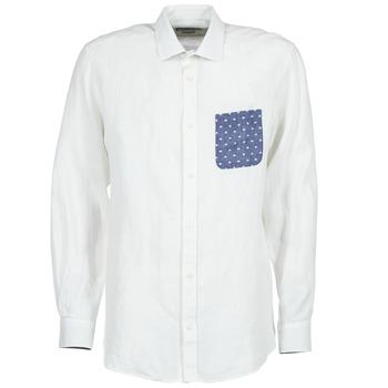 Abbigliamento Uomo Camicie maniche lunghe Serge Blanco CHACA Bianco