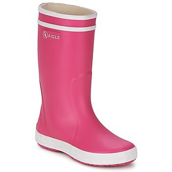 Scarpe Bambina Stivali da pioggia Aigle LOLLY-POP Rosa / Bianco