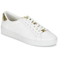 Schuhe Damen Sneaker Low MICHAEL Michael Kors IRVING Weiß / Gold