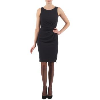 Kleidung Damen Kurze Kleider Esprit BEVERLY CREPE Schwarz