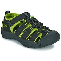 Chaussures Garçon Sandales sport Keen KIDS NEWPORT H2 Noir / Vert