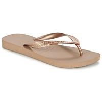 Schuhe Damen Zehensandalen Havaianas TOP METALLIC Rose / Gold