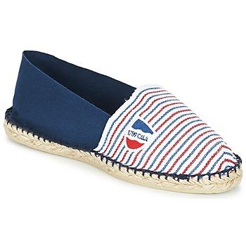 Schuhe Leinen-Pantoletten mit gefloch 1789 Cala CLASSIQUE BICOLORE Blau / Weiss / Rot