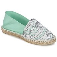 Chaussures Femme Espadrilles 1789 Cala CLASSIQUE IMPRIMEE Eau / Blanc