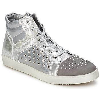 Scarpe Donna Sneakers alte Hip 90CR Argento/coccodrillo
