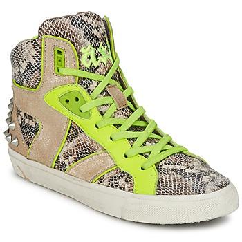 Chaussures Femme Baskets montantes Ash SONIC python/jaune